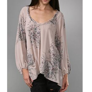 Rebecca Taylor Pink Long Sleeve Blouse Size 2